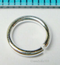 10x BRIGHT STERLING SILVER 7mm ROUND OPEN JUMP RING 1mm 18ga N743