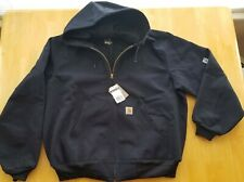 Carhartt Men's Thermal Lined Duck Active Jacket J131, Dark Navy, XL Regular
