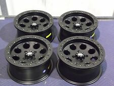 "14"" SUZUKI KING QUAD 700 BEADLOCK BLACK ATV WHEELS NEW SET 4 -LIFETIME WARRANTY"
