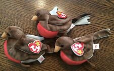 Early the Bird Ty Beanie Baby Babies RETIRED Lot of 3
