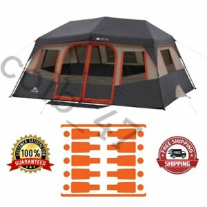 Instant Outdoor Cabin Camping Tent 14' X 10' 10-Person Fits 2 Queen Airbeds NEW