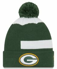 NFL Green Bay Packers Men's New Era Green Logo Whiz 3 Cuffed Pom Knit Hat