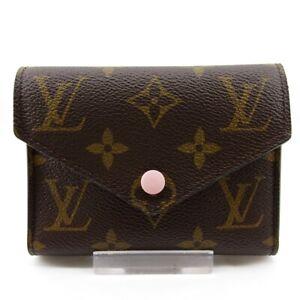 Auth LOUIS VUITTON Portefeuille Victorine M62360 Rose Ballerine Trifold Wallet