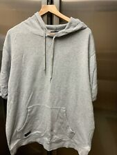Rip Curl  Surf Grey Oversized Short Sleeve Cotton Hooded Jumper Sweater Size XL