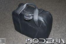 Bolsa de cuero maleta negro Bolsa Cuero Funda Suitcase Medio Ferrari 458 Italia