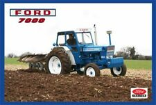 Vintage Ford 7000 Tractor Poster Brochure Leaflet Print RARE (A3)