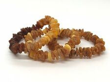 Lot 3 Natural Baltic Amber Raw rough unpolished healing bracelet set 33 g #2801