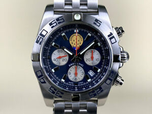 Breitling Chronomat 44 Patrouille de France Limited Edition Watch in FULL SET