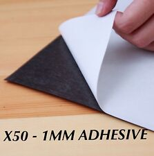 50 x A4 Magnet Sheets Adhesive Front Layer Home and Office Bulk Buy 1mm 1.0mm