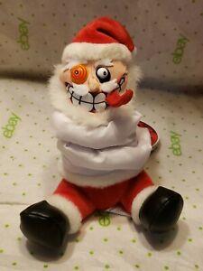 MEANIES SHOCKING STUFFERS BEANIE PLUSH VINTAGE 1999 Insanity Clause Santa Claus