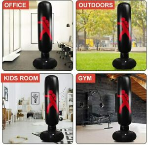 Adult Free Standing Punching Bag Boxing Cardio Kickboxing Fitness Training