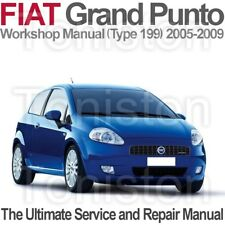 Fiat Grande Punto 2005-2009 (Type 199) Workshop, Service and Repair Manual on CD
