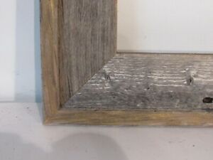 VINTAGE ART DECO RUSTIC WOOD  PICTURE FRAME FOR PAINTING  14 X 11  INCH