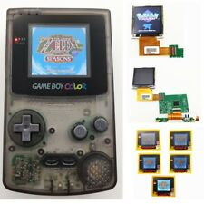 Clear Black Refurbished Game Boy Color GBC Console With Backlight Back Light LCD