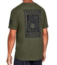 Under Armour UA Freedom Unbroken Snake Men's HeatGear® Cotton OD Green T-Shirt