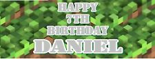 TNT Pixel Personalised Childrens Birthday Banner - Perfect for Minecraft Fans