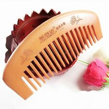 10.8CM No-static Sandalwood Natural Wide Tooth Wood Massage Wooden Hair Comb HOT