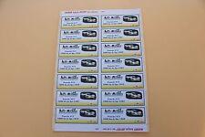 PRb 1 planche 14 ex étiquette autocollant Porsche 917 1000 km Spa 1969 30 Heco