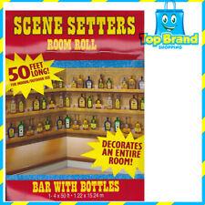 SCENE SETTERS BAR WITH BOTTLES 50 FEET LONG 1.22X 15.24M PARTY BIRTHDAYS