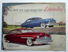 LINCOLN AUTO 1949 Full Color Original Advertising Brochure Poster Cosmopolitan