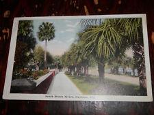 DAYTONA FL - RARE 1916 POSTCARD - SOUTH BEACH STREET