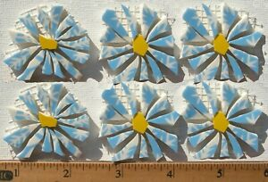 Light Blue Flowers Mosaic Tile Set, Broken Cut China Plate Mosaic Tiles