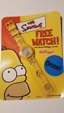 Kelloggs Rare HOMER SIMPSON Digital WRIST WATCH SEALED Promo 2002