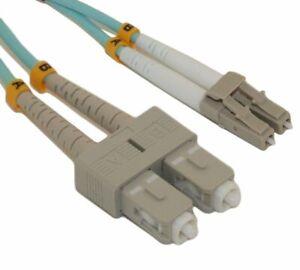 10 Meter LC/SC 10G Multi-Mode Duplex OM3 50/125 Fiber Optic Network Cable