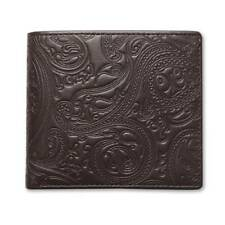 Pretty Green Wallet - Brown Embossed Bi-Fold Wallet - Paisley - ARXG0311A156
