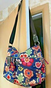 LILY BLOOM Shoulder Bag Crossbody HANDBAG Multi Bright Floral PRINT PURSE-EXC
