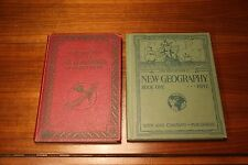 2 Vintage Atlas- 1928 Ginn New Geography Frye & 1931 Literary Digest World Atlas