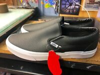 Vans Classic Slip On Perf Leather Black Size US 11.5 Men's VN000XG8DJ6 New