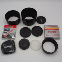 Lot of Camera Filters Lens Body Caps & Hood