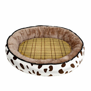 Pet Bed Mattress Warm Nest With Removable Cooling Pad Puppy House Cushion Round
