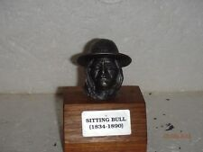 Ron Hinote Pewter Bust Series Sioux Indian Chief Sitting Bull 1834 - 1890 RARE