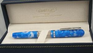 Conklin Heritage Word Gauge Blue Fountain Pen - Brand New $145 Pen No Reserve