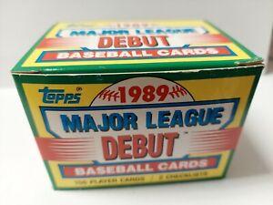 1989 TOPPS Major League DEBUT Baseball Cards Set 152ct UNOPENED