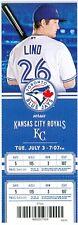 2012 Blue Jays vs Royals Ticket: Adam Lind hit HR/Brett Cecil win