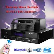 200W Tube Bluetooth 4.0 Power Amplifier HIFI 2.1 USB SD Microphone Subwoofer AMP