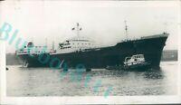 1958 Tanker British Architect On way to Sea Trial Wallsend Original press Photo