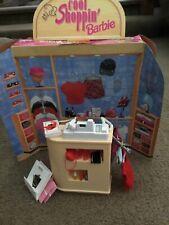 Cool Shoppin Barbie Store Counter & accessories plus salon surprise Barbie chair