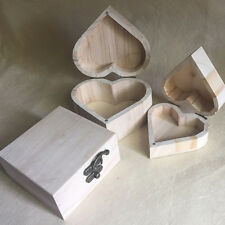 Storage Heart-Shaped Wooden Box Retro Wood Packaging Jewelry Boxes Handy NEWEST
