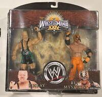 2008 WWF WWE REY MYSTERIO + FINLAY 2-pack ROAD TO WRESTLEMANIA XXIV JAKKS