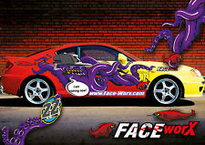 FWD031 Evil Octopus Decals Sticker for 1/10 rc racing drift car