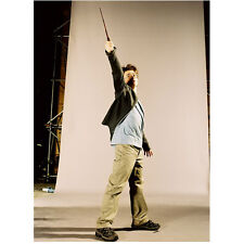 Harry Potter Daniel Radcliffe Pointing Wand by Backdrop 8 x 10 Inch Photo
