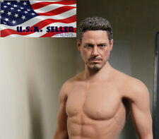 1/6 Tony Stark Iron Man Head Sculpt (no neck) For Hot Toys Phicen Figure ❶USA❶