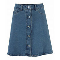 wow mini Jeans ROCK Gr.38 M Mini Retro 70er SKIRT Jeansrock Blau kurz