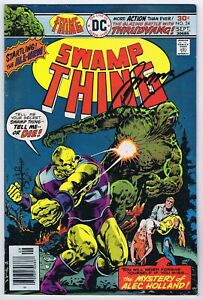 Swamp Thing #24 Last Issue VF- Signed Gerry Conway w/COA 1976 DC Comics Bronze