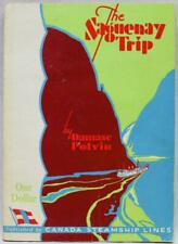 CANADA STEAMSHIP LINES THE SAGUENAY TRIP BOOKLET & MAP 1949 VINTAGE TRAVEL