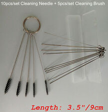 Ideal Carburetor Carbon Dirt Jet Remove 10 Cleaning Needles + 5 Brushes For KTM